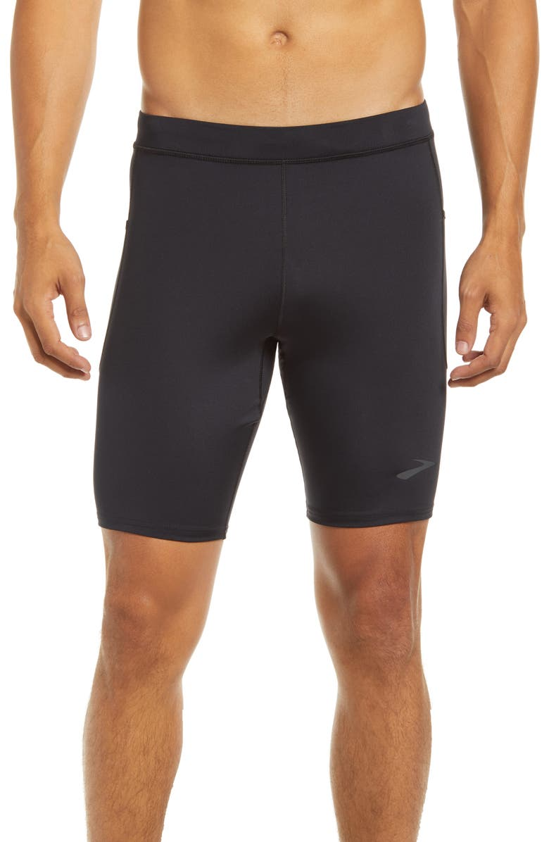 BROOKS Source Short Performance Running Tights, Main, color, BLACK