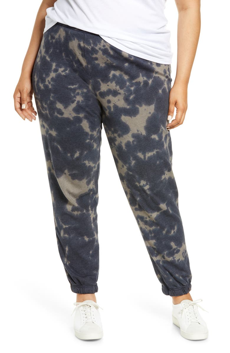 TREASURE & BOND Women's Tie Dye Joggers, Main, color, NAVY- GREY COMBO