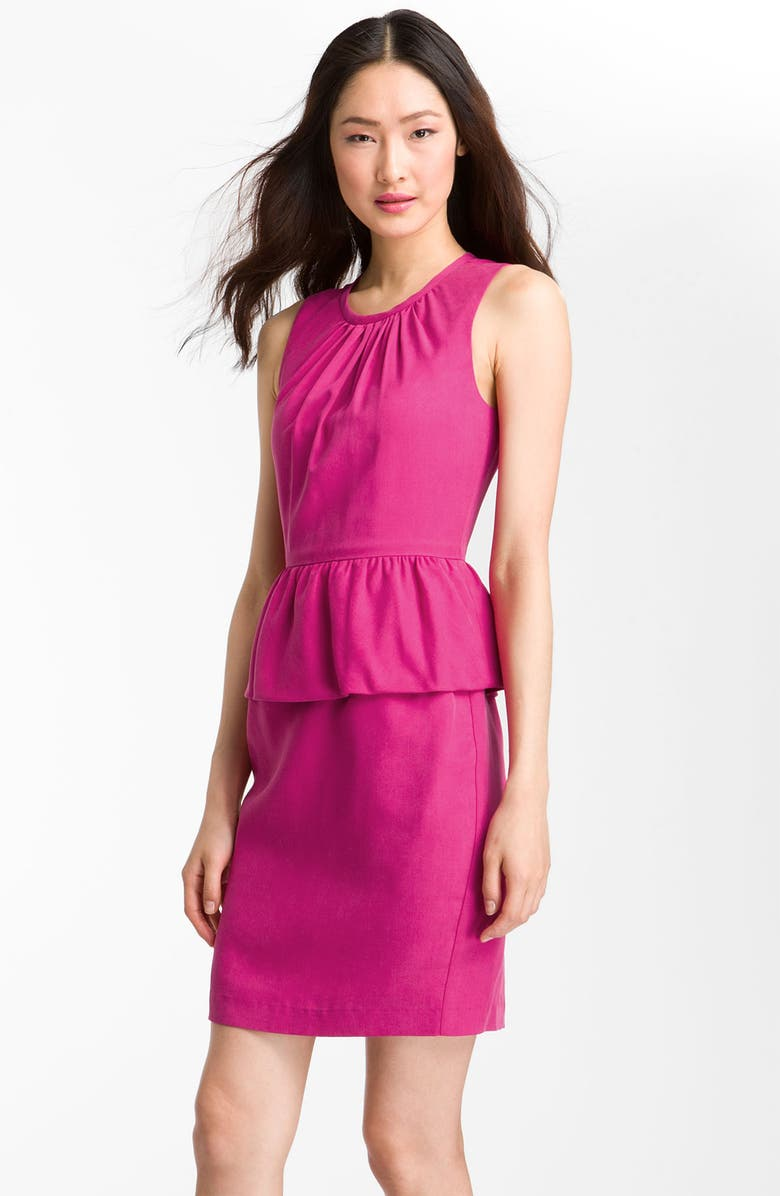TRINA TURK 'Kiran' Sleeveless Peplum Dress, Main, color, 658