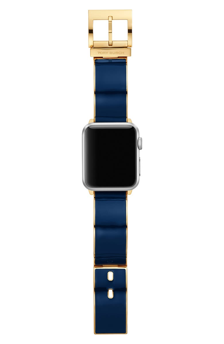 TORY BURCH The Buddy Bangle Band for Apple Watch<sup>®</sup> 38mm/40mm, Main, color, NAVY