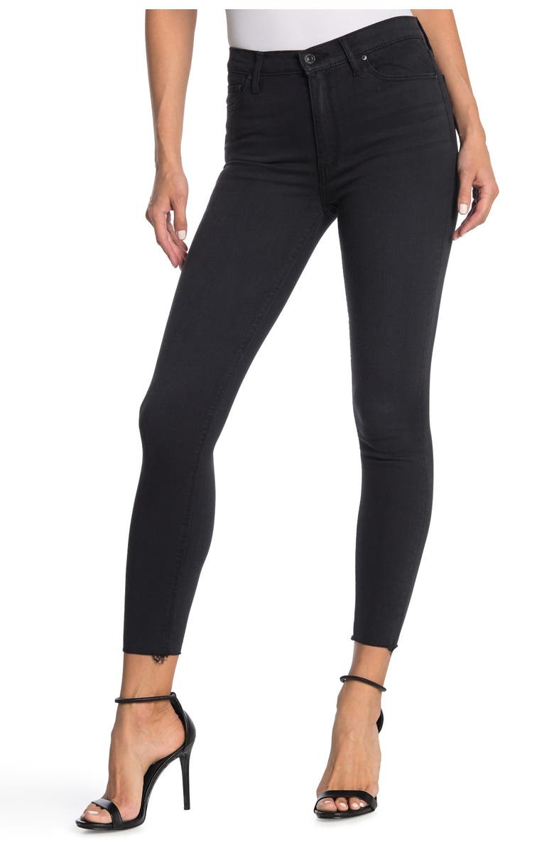 BLACK ORCHID Carmen High Rise Ankle Fray Jeans, Main, color, SHADOW