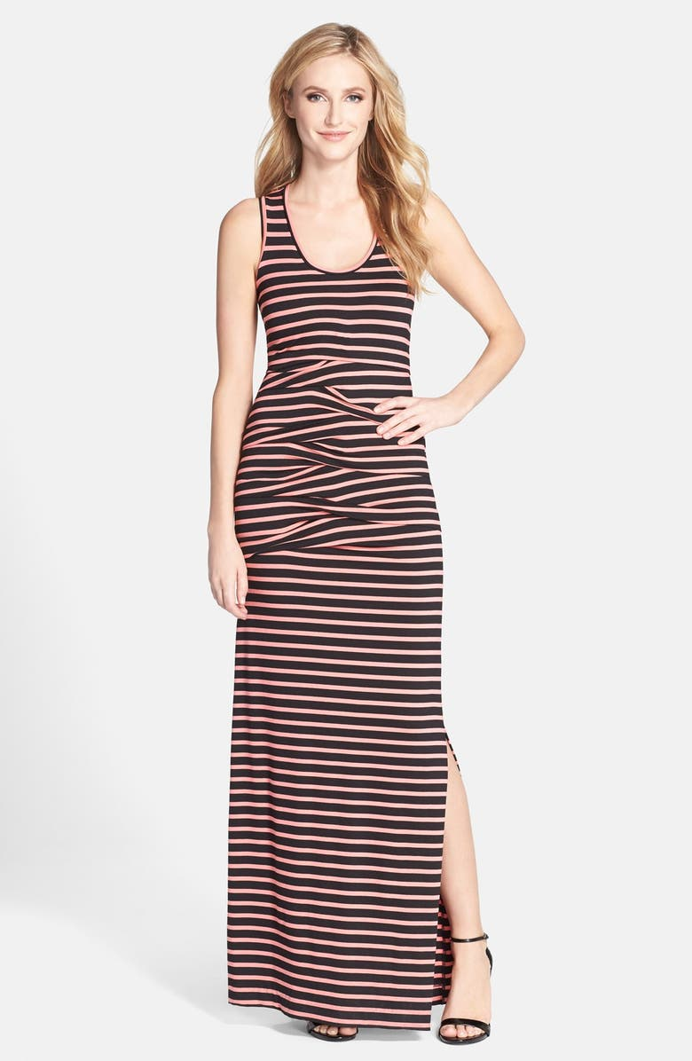 NICOLE MILLER 'Vanessa' Stripe Jersey Maxi Dress, Main, color, 959