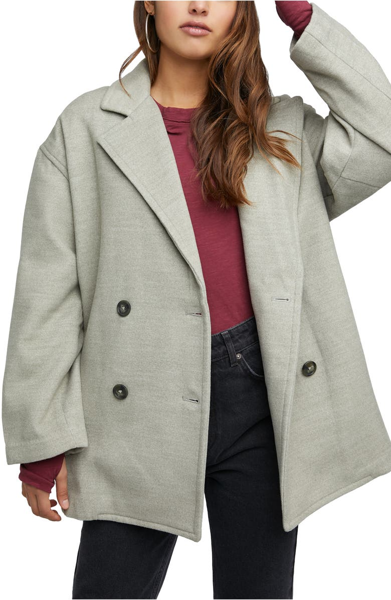 FREE PEOPLE Hannah Slouchy Double Breasted Blazer, Main, color, OREGANO