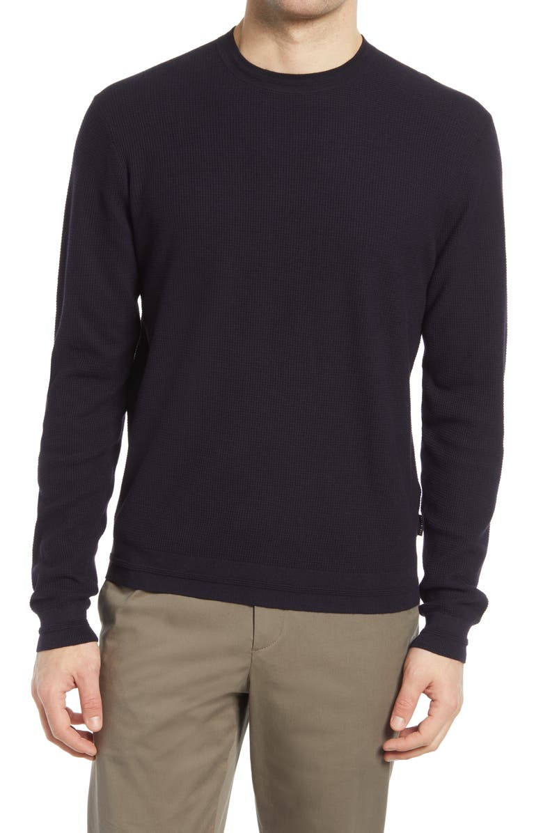TED BAKER LONDON Staylay Crewneck Sweater, Main, color, BLACK