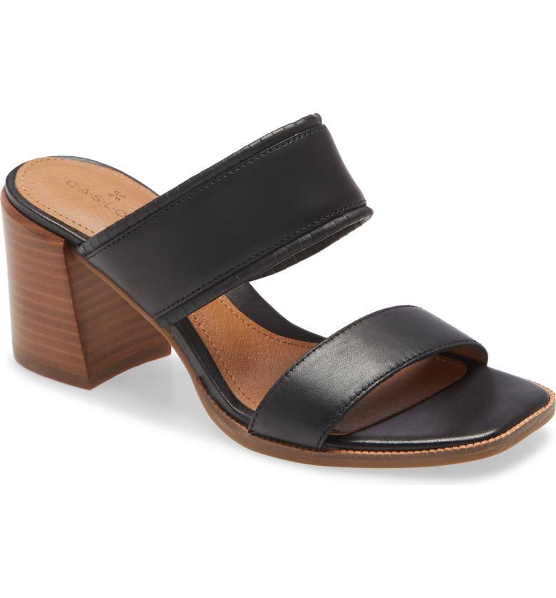 CASLON<SUP>®</SUP> Kalina Block Heel Slide Sandal, Main, color, 001