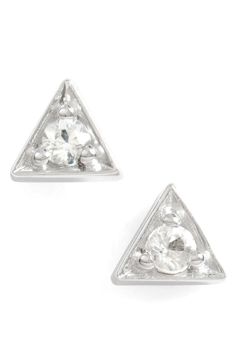 ANZIE Cleo Stud Earrings, Main, color, Silver