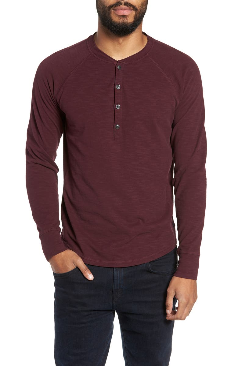 GOOD MAN BRAND Slim Fit Henley, Main, color, WINE