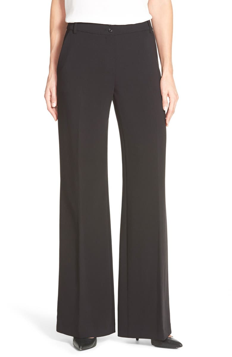 ADRIANNA PAPELL Wide Leg Pants, Main, color, BLACK