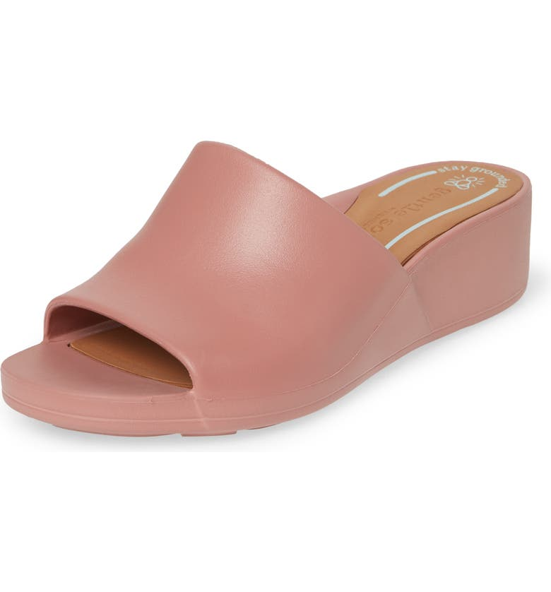 GENTLE SOULS SIGNATURE Gentle Souls by Kenneth Cole Gisele Wedge Slide Sandal, Main, color, PINK CLAY