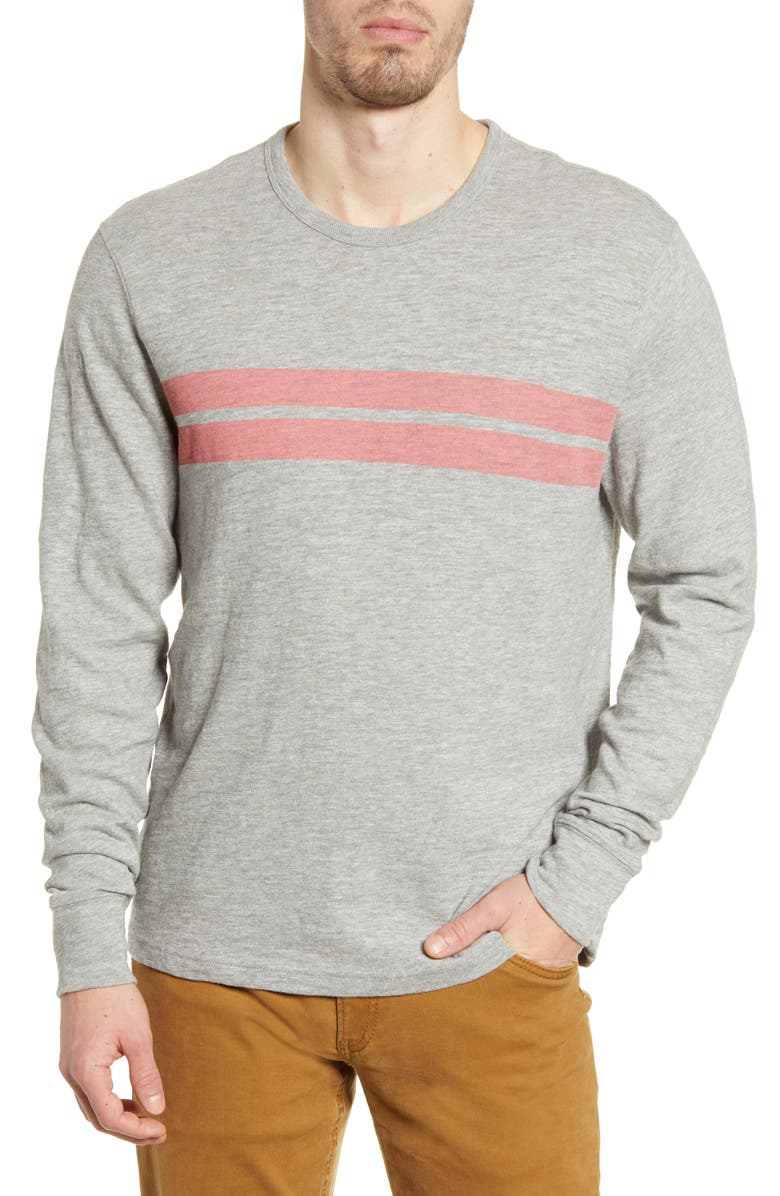 FAHERTY Surf Twin Stripe Long Sleeve T-Shirt, Main, color, 020
