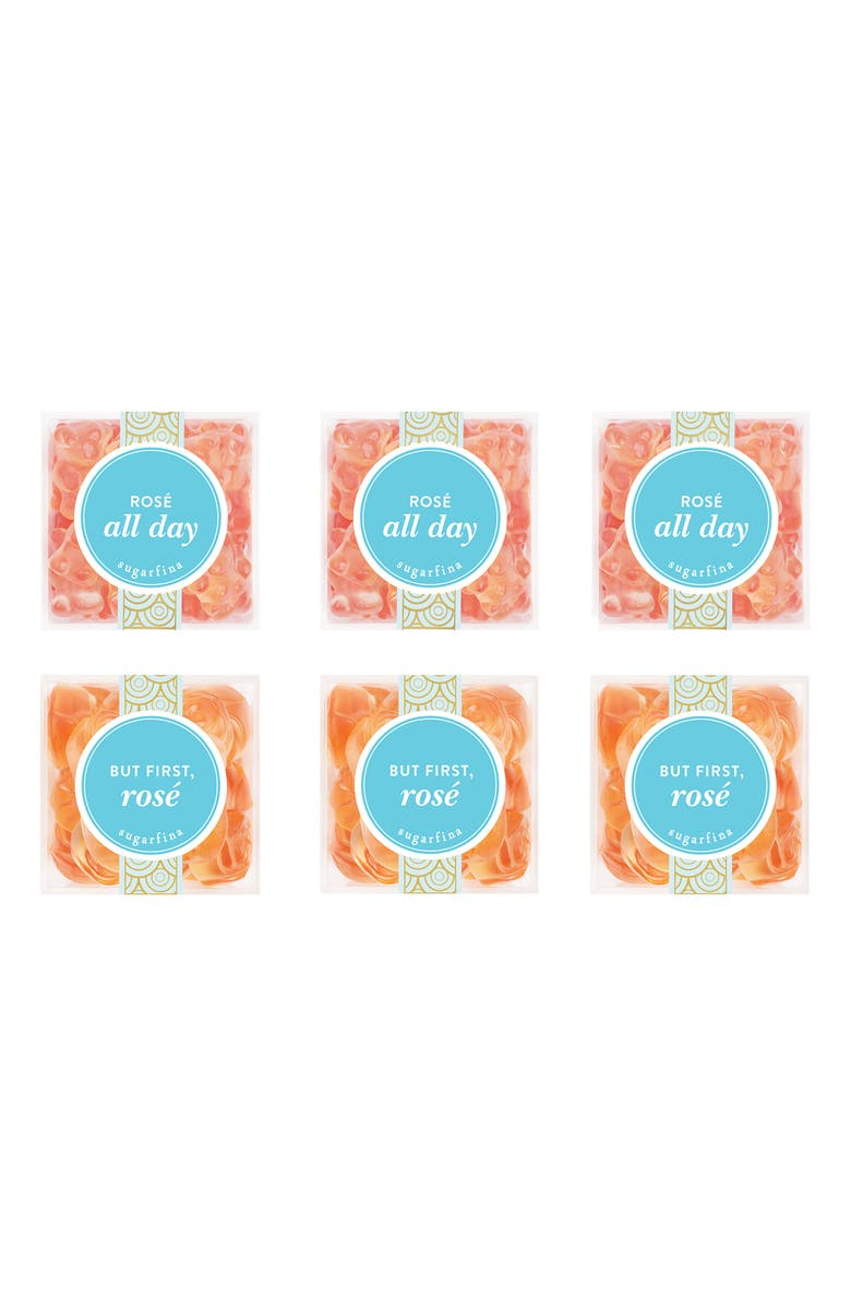 SUGARFINA Set of 6 Rosé Party Pack Candy Cubes, Main, color, 650
