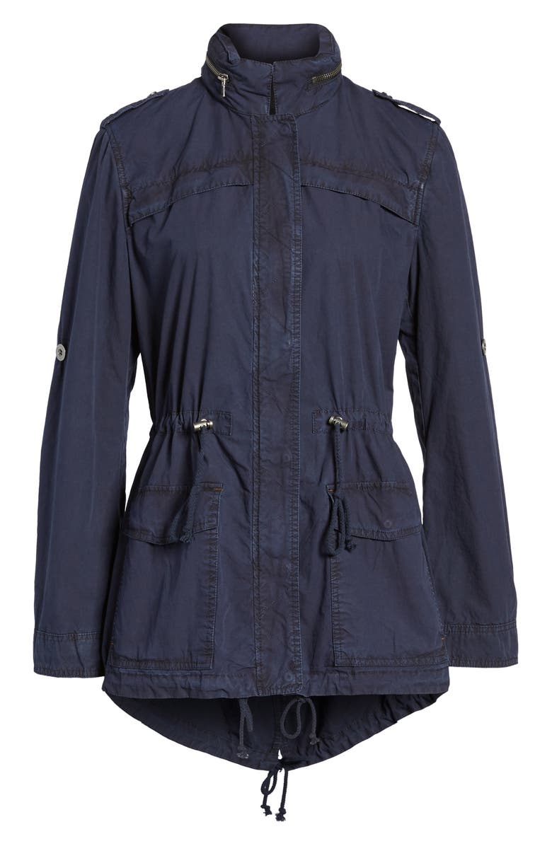 LEVI'S<SUP>®</SUP> Lightweight Cotton Hooded Utility Jacket, Main, color, NAVY