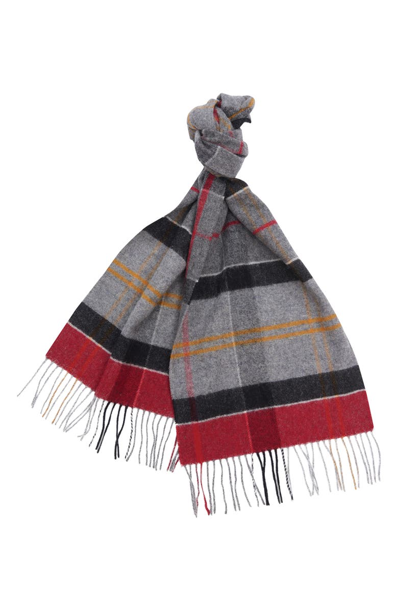 BARBOUR Inverness Tartan Wool Scarf, Main, color, 052