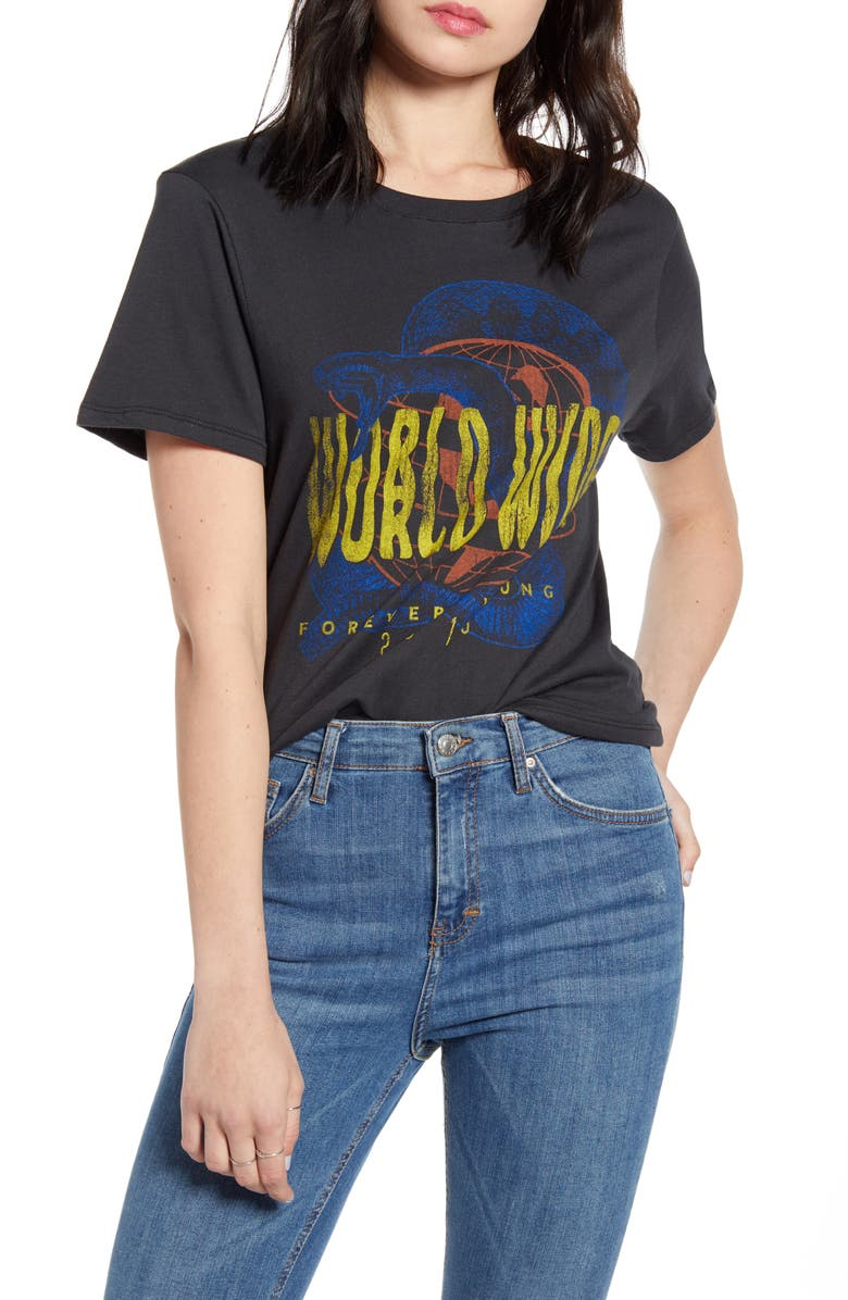PRINCE PETER World Wide Graphic Tee, Main, color, 001