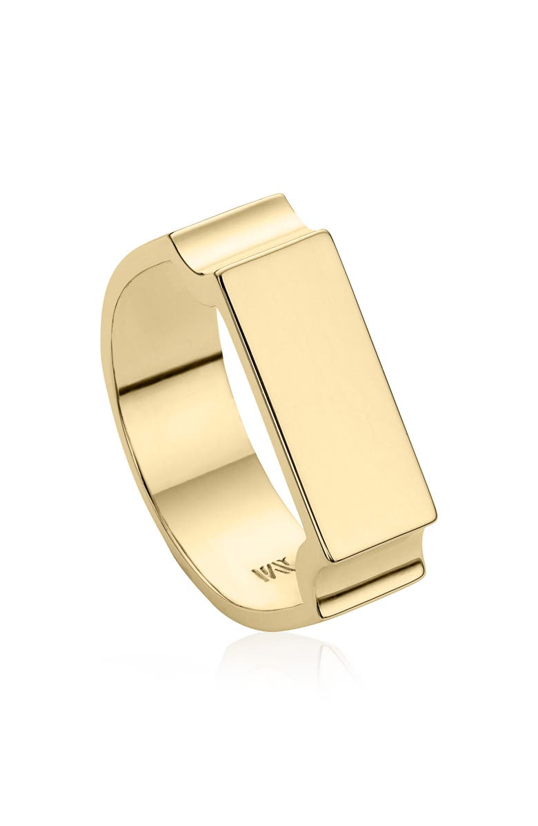 MONICA VINADER Engravable Wide Signature Ring, Main, color, DNU/YELLOW GOLD