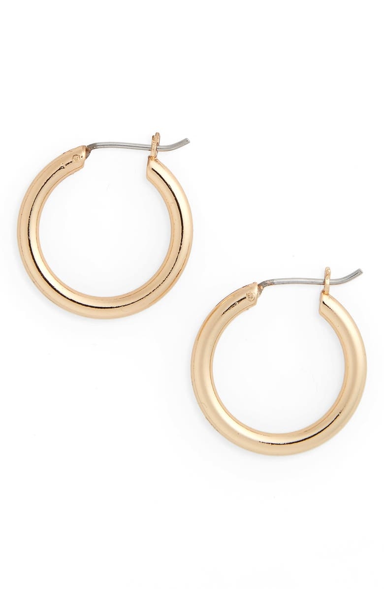 NORDSTROM Small Endless Hoop Earrings, Main, color, GOLD