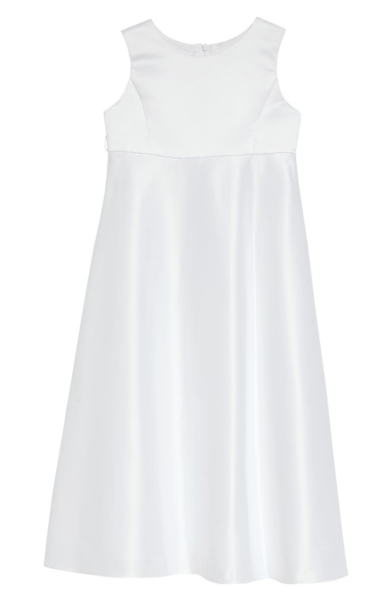 US ANGELS The Classic Sleeveless A-Line Dress, Main, color, WHITE