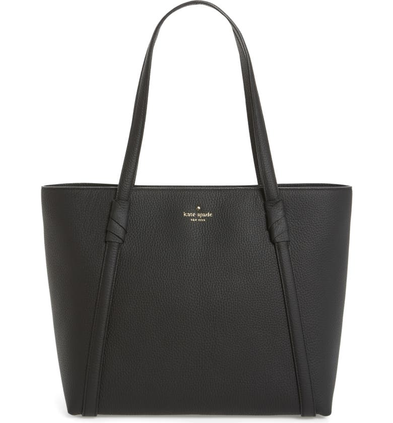 KATE SPADE NEW YORK daniels drive - cherie leather tote, Main, color, BLACK