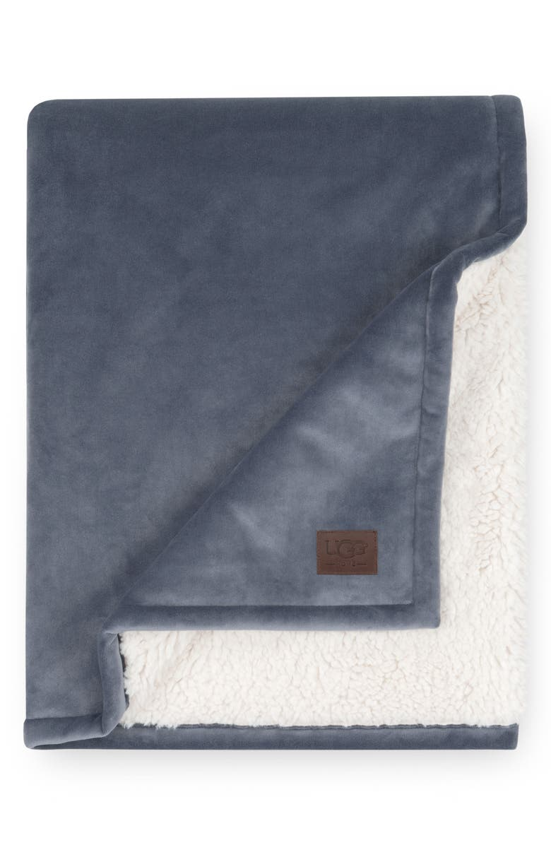 UGG<SUP>®</SUP> Bliss Fuzzy Throw, Main, color, IMPERIAL