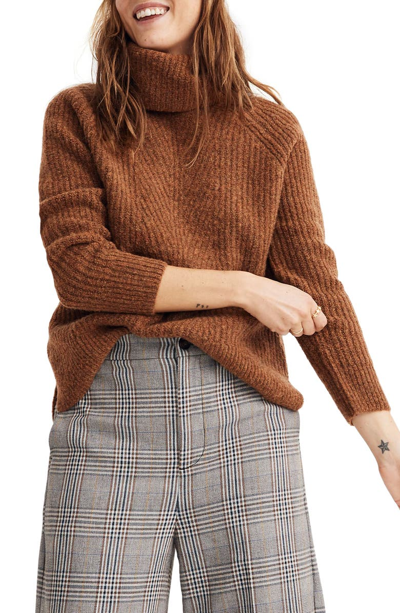 MADEWELL Turtleneck Sweater, Main, color, 200