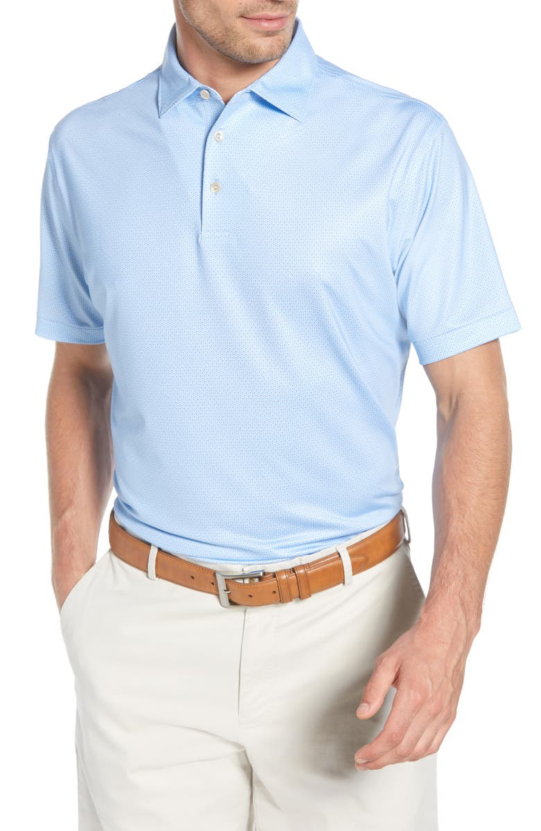 PETER MILLAR Watts Regular Fit Stretch Jersey Performance Polo, Main, color, 400