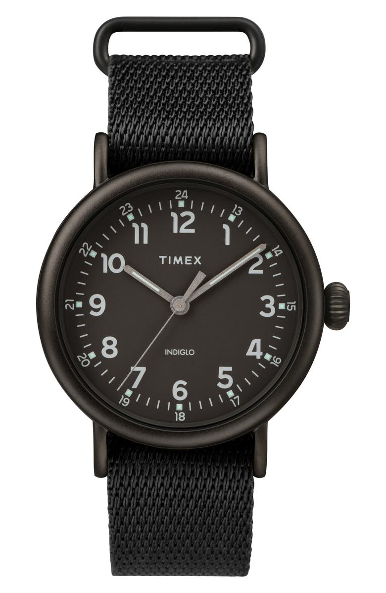 TIMEX<SUP>®</SUP> Standard Textile Strap Watch, 41mm, Main, color, 001