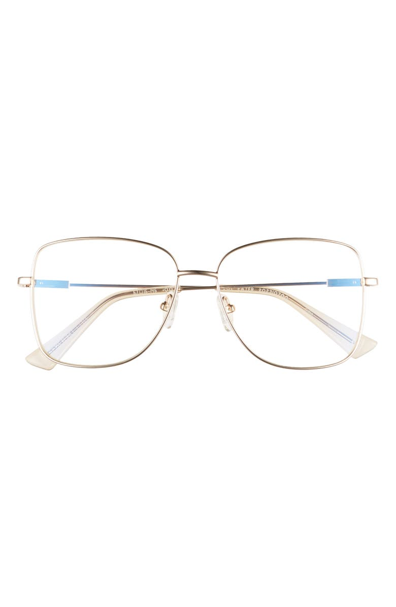 THE BOOK CLUB LOL Eaters 57mm Blue Light Blocking Reading Glasses, Main, color, Gold
