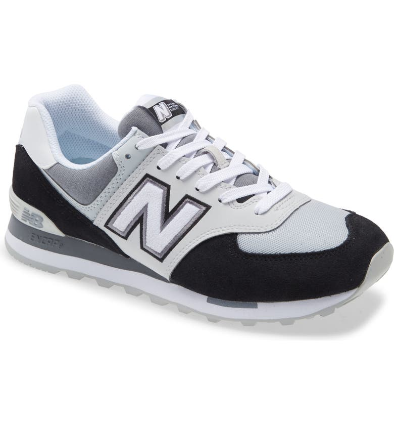 NEW BALANCE 574 Classic Sneaker, Main, color, BLACK/ WHITE