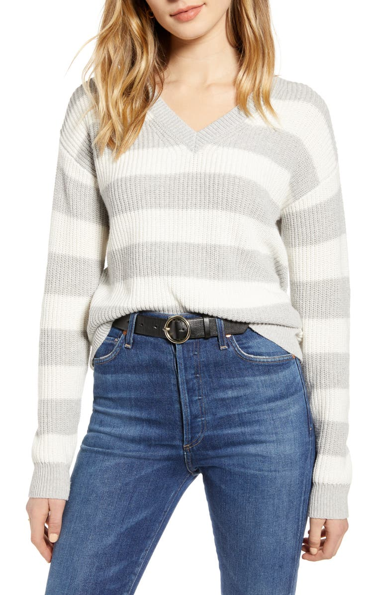 1901 Cotton & Wool Blend Shaker Sweater, Main, color, 030
