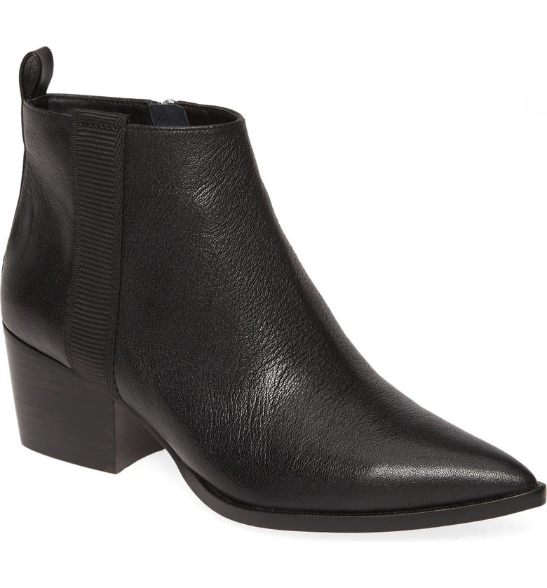 LINEA PAOLO Sevilla II Bootie, Main, color, BLACK NAPPA LEATHER