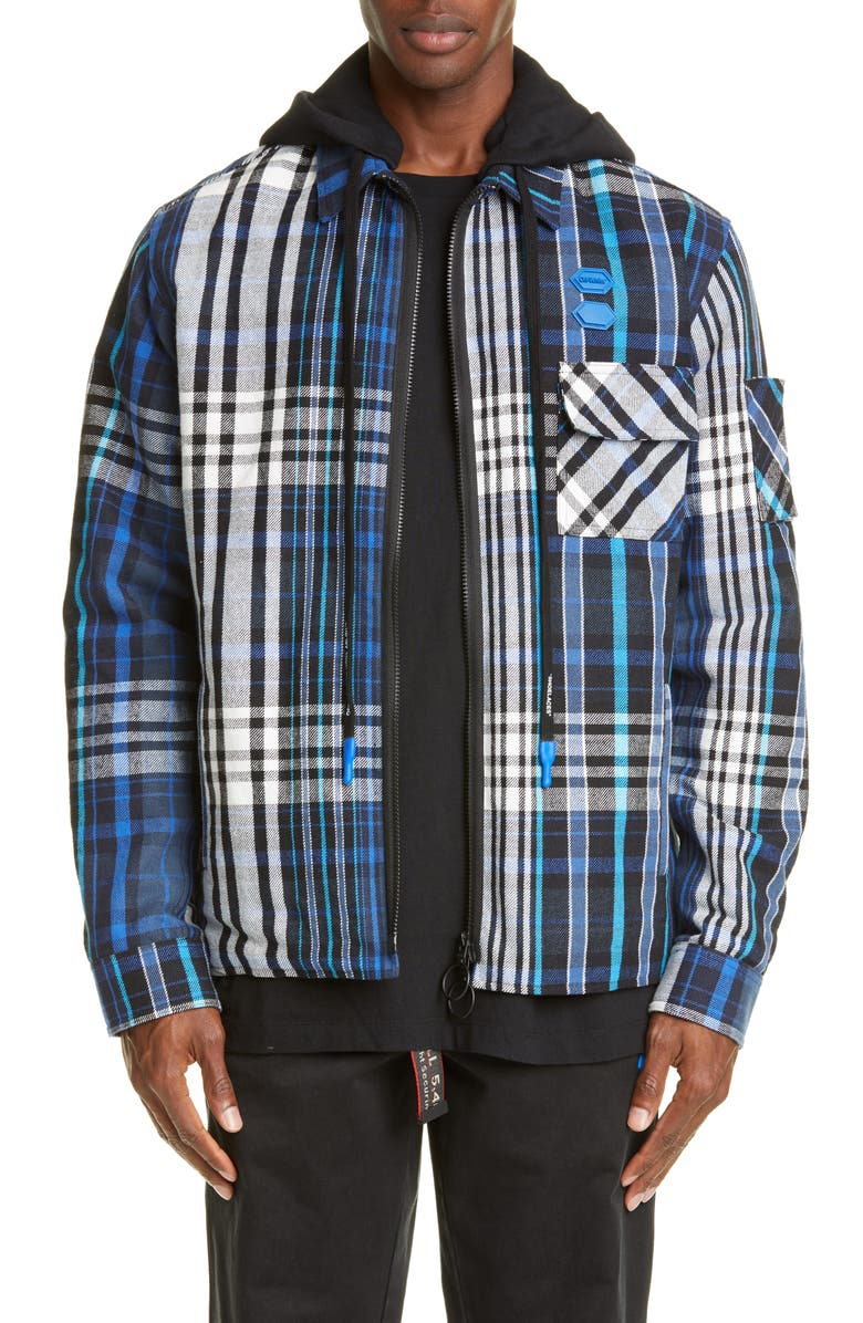 OFF-WHITE Relaxed Fit Padded Flannel Shirt, Main, color, 400