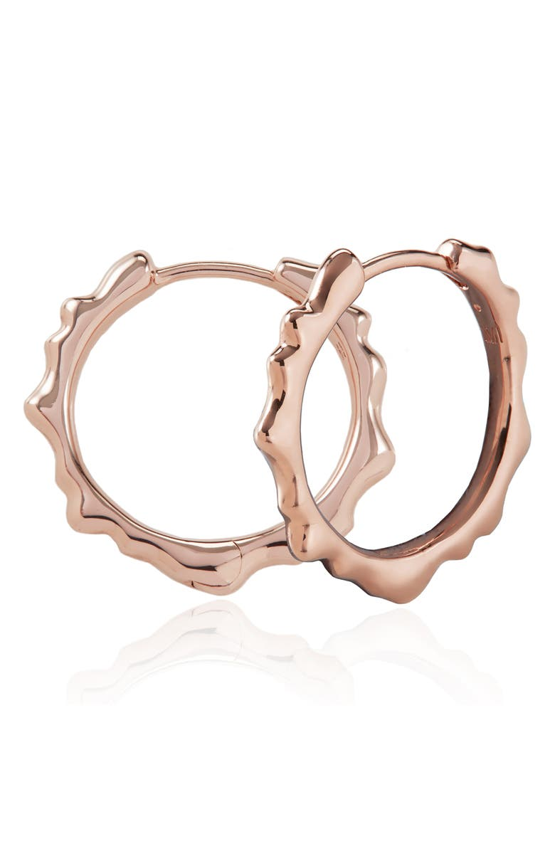 MONICA VINADER Siren Muse Small Hoop Earrings, Main, color, ROSE GOLD