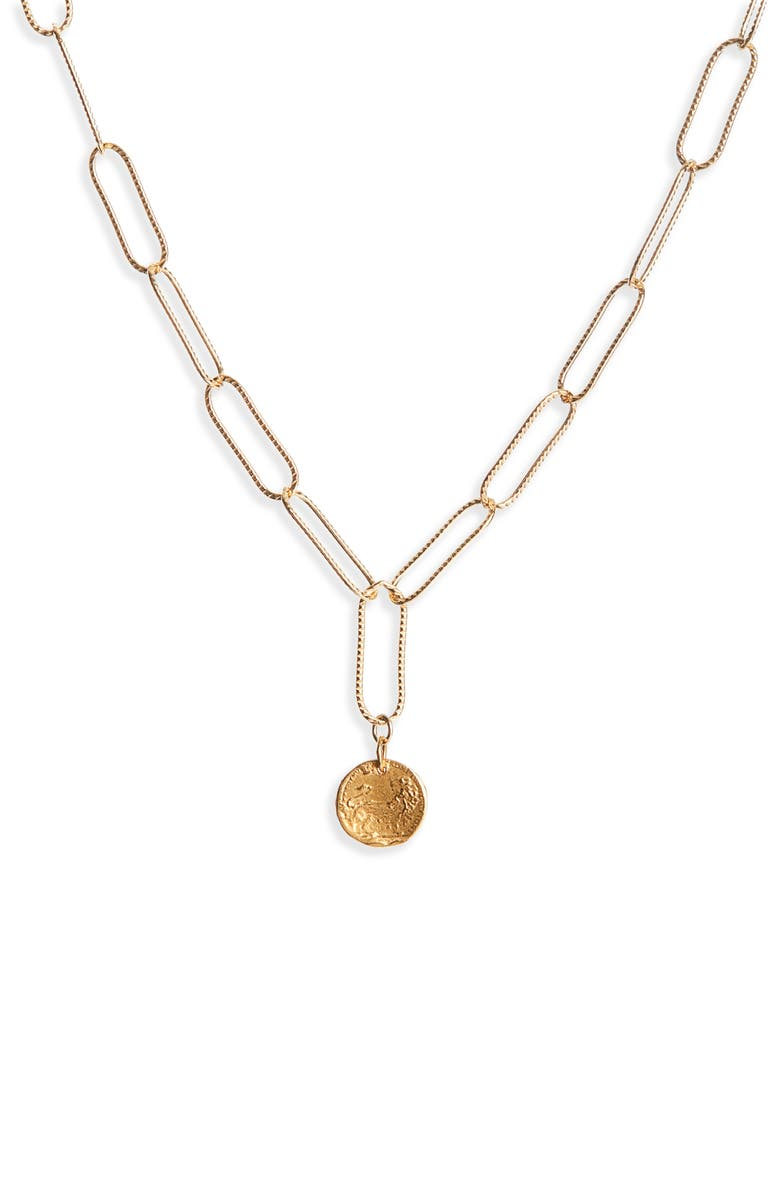 ALIGHIERI Baby Lion in the Night Necklace, Main, color, GOLD