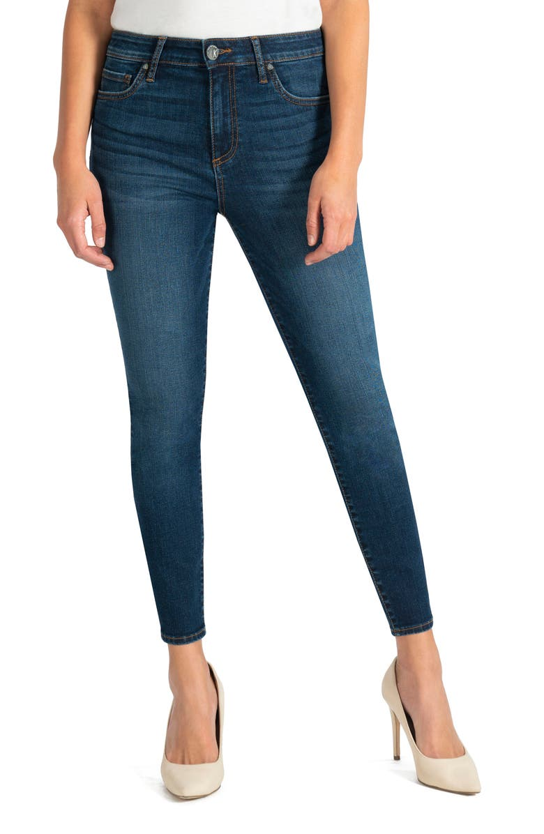 KUT FROM THE KLOTH Donna High Waist Ankle Skinny Jeans, Main, color, CIVIC