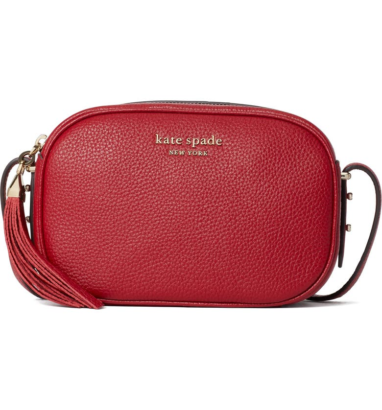 KATE SPADE NEW YORK annabel medium camera bag, Main, color, RED CURRANT