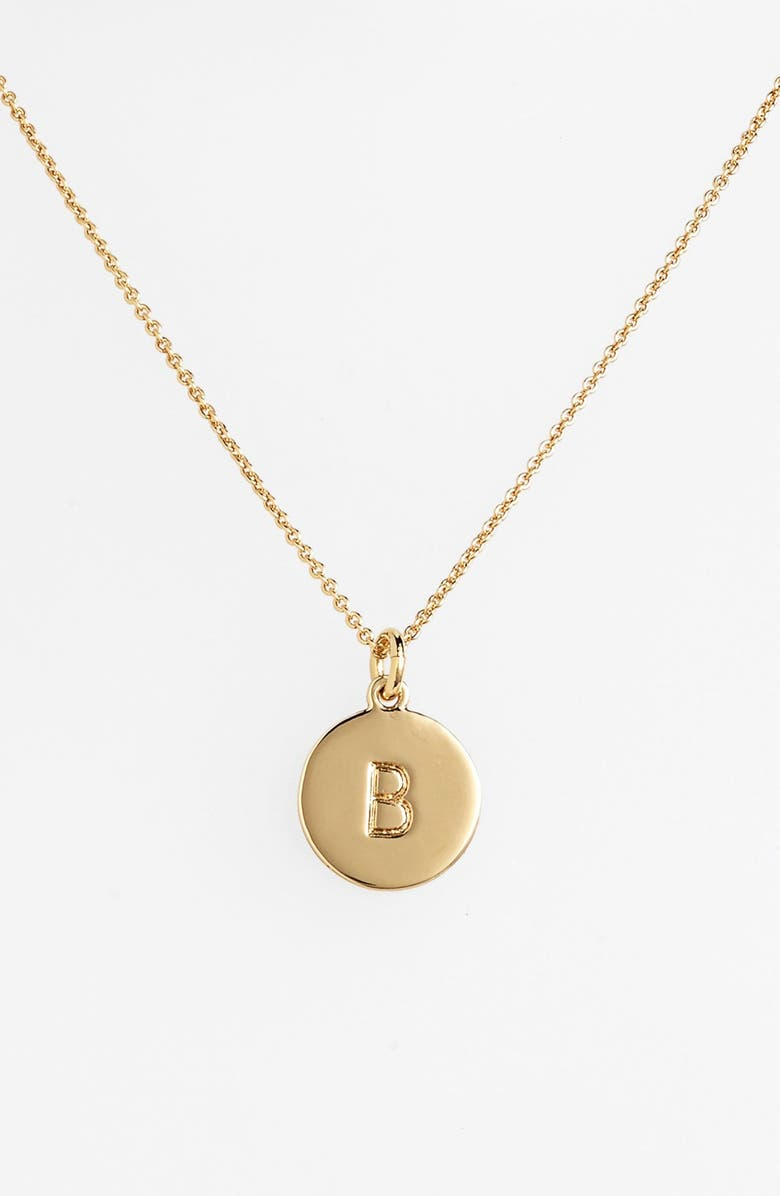 KATE SPADE NEW YORK one in a million initial pendant necklace, Main, color, B- GOLD