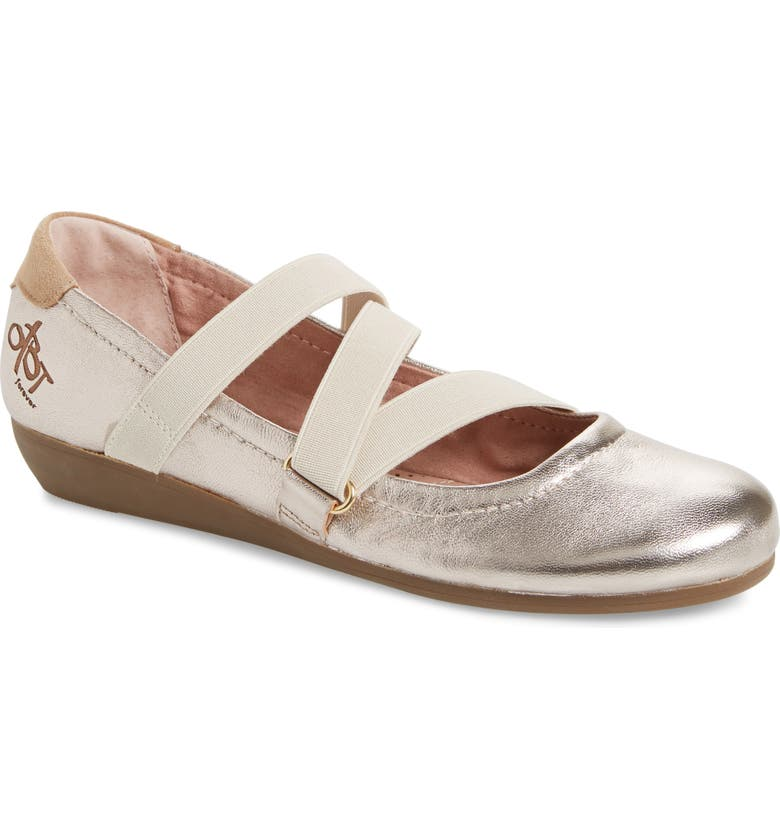 OTBT Anora Flat, Main, color, OLD GOLD LEATHER