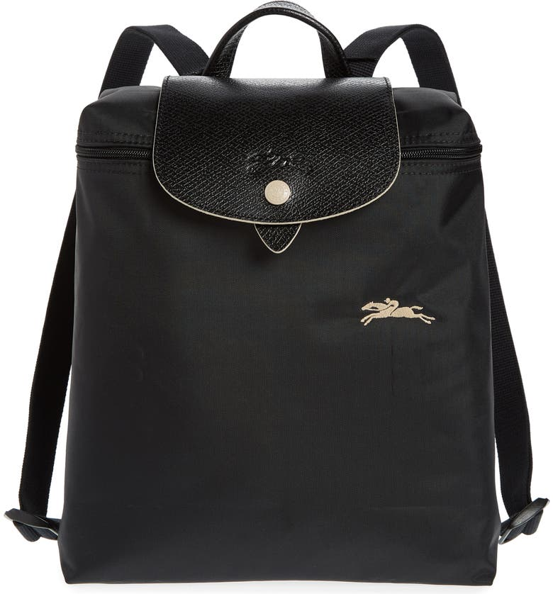 LONGCHAMP Le Pliage Club Backpack, Main, color, BLACK