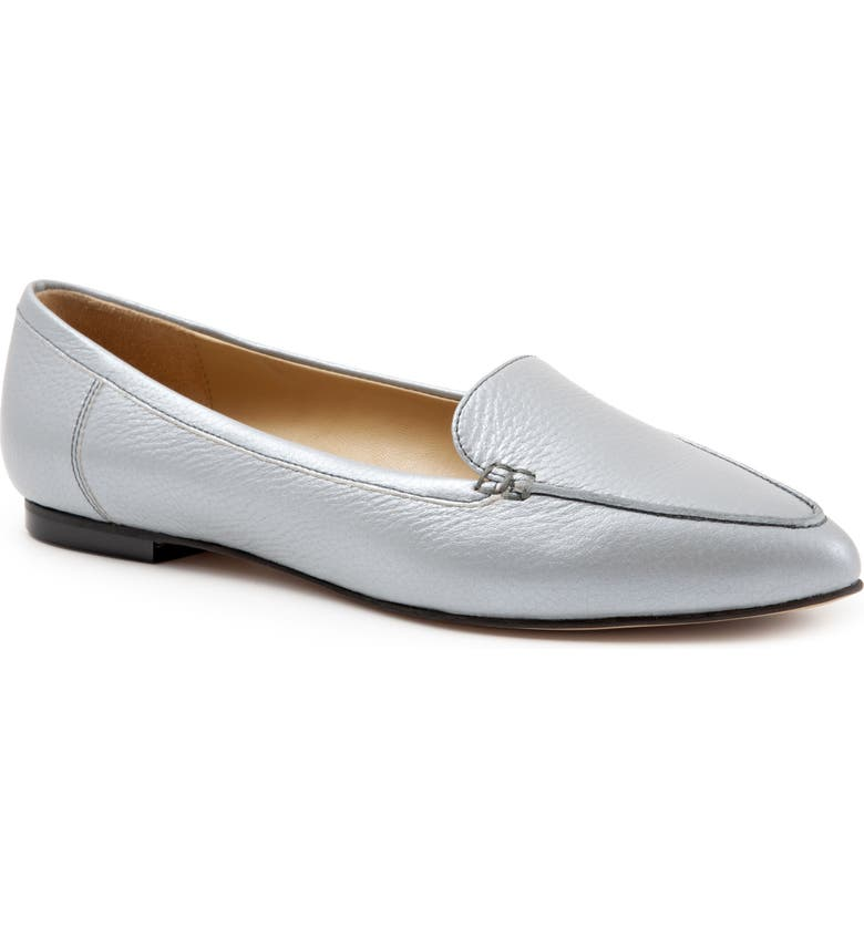 TROTTERS Ember Flat, Main, color, GREY LEATHER