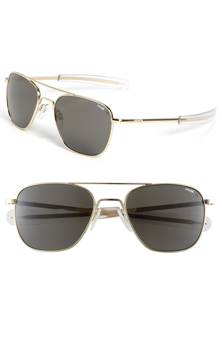 RANDOLPH ENGINEERING 55mm Aviator Sunglasses, Main, color, 710