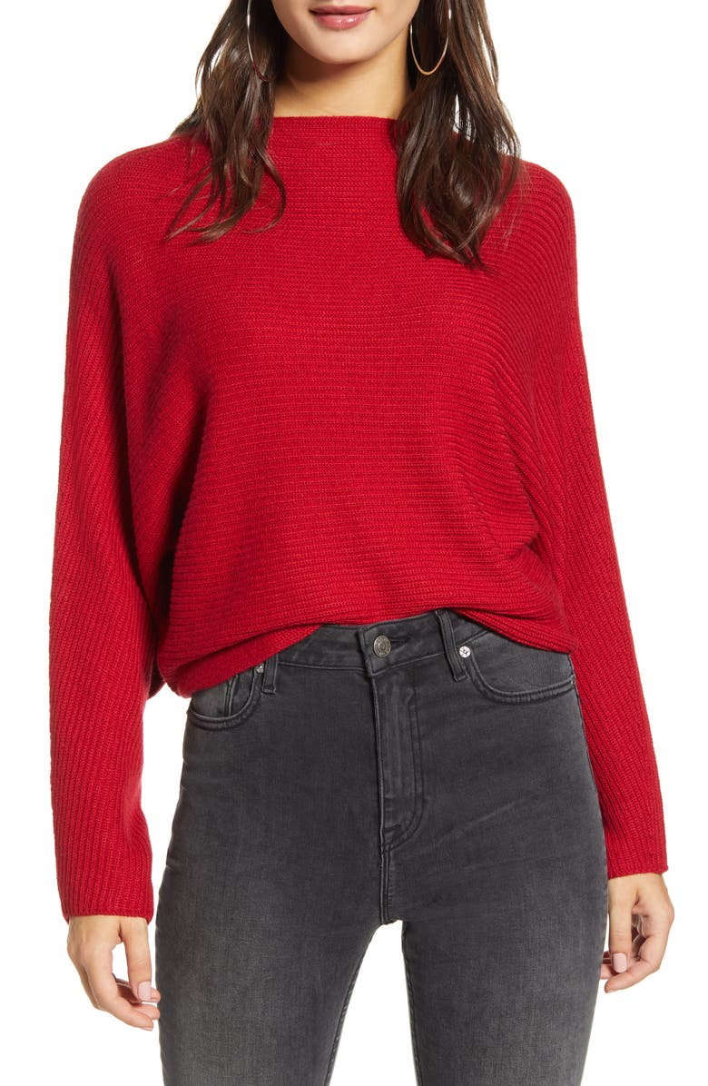 LEITH Dolman Sleeve Crop Sweater, Main, color, 601