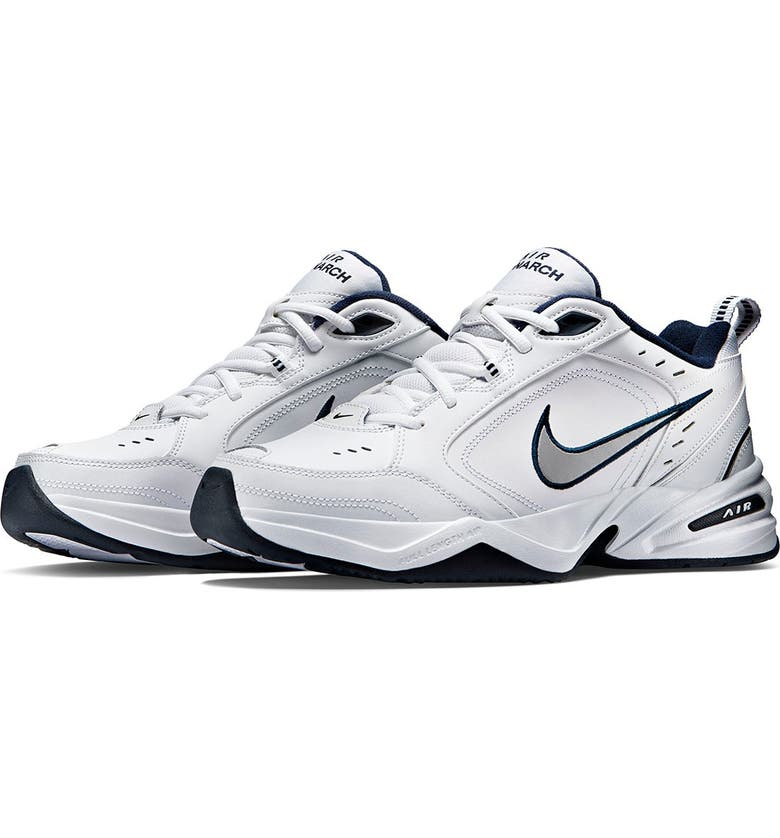 NIKE Air Monarch IV 4E Training Sneaker - Extra Wide Width, Main, color, 102 WHITE-MTLL