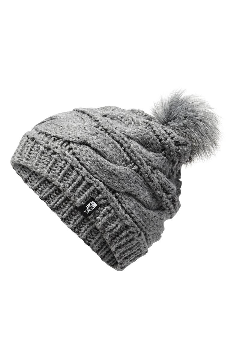 THE NORTH FACE Triple Cable Pom Beanie, Main, color, 030