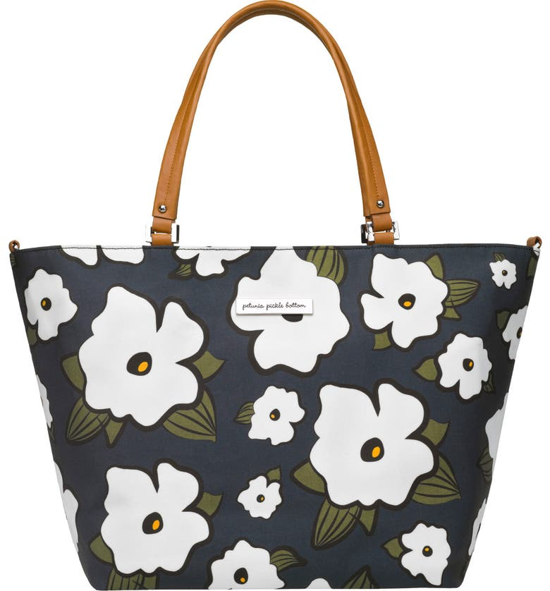 PETUNIA PICKLE BOTTOM 'Altogether' Glazed Canvas Tote, Main, color, FIELDS FEATHERSTONE