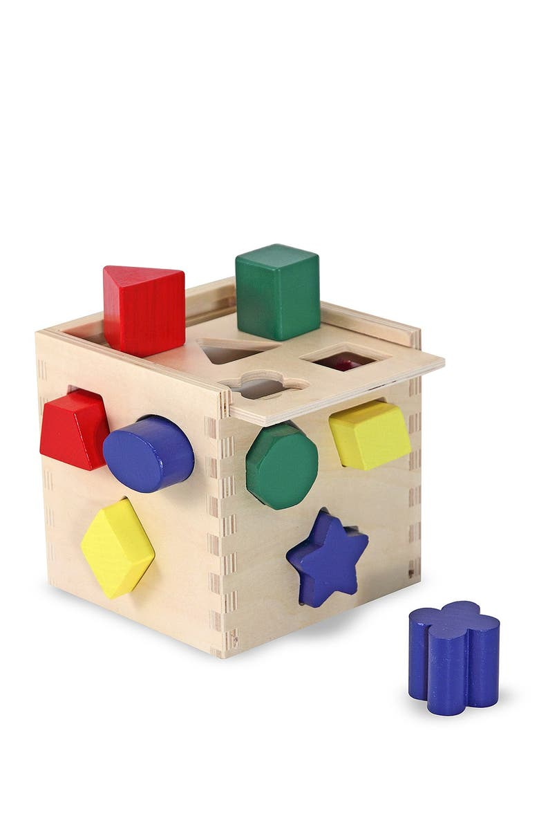MELISSA AND DOUG Shape Sorting Cube, Main, color, NO COLOR