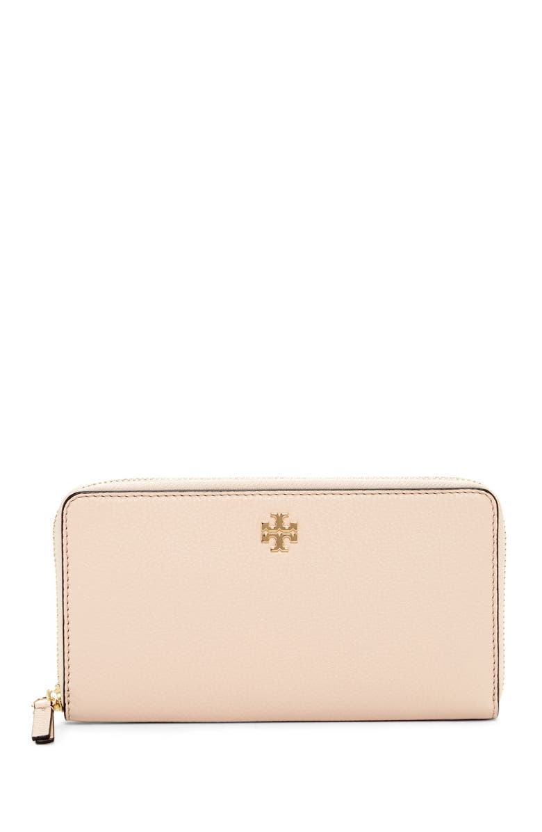 TORY BURCH Frida Zip Around Leather Wallet, Main, color, 205