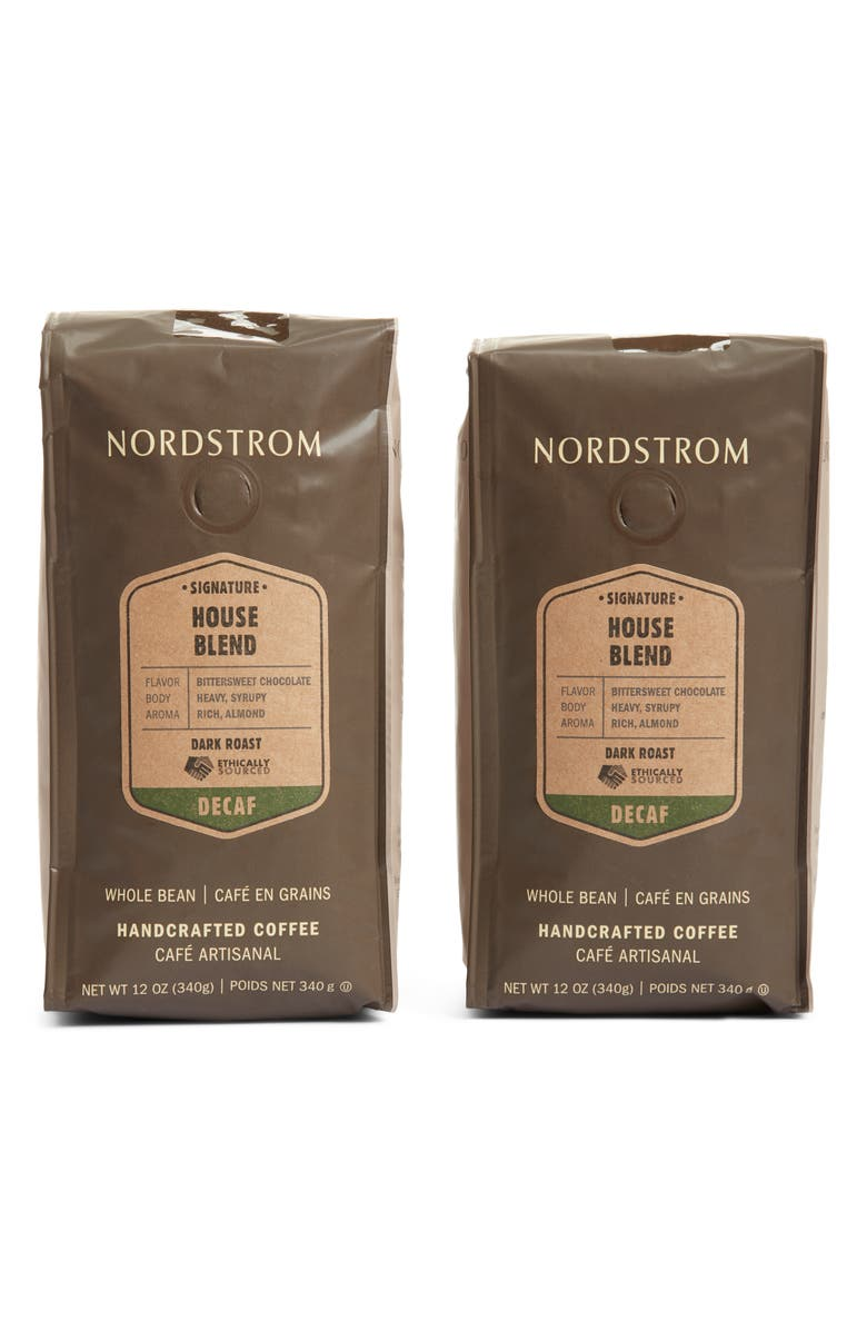 NORDSTROM Ethically Sourced Decaf House Blend 2-Pack Whole Bean Coffee, Main, color, 200