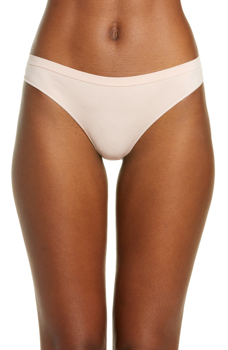 B.TEMPT'D BY WACOAL Comfort Intended Daywear Thong, Main, color, ROSE SMOKE