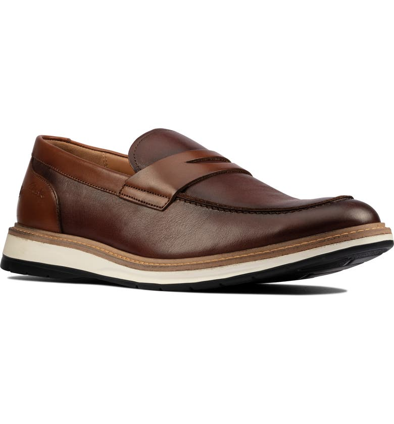 CLARKS<SUP>®</SUP> Chantry Penny Loafer, Main, color, TAN LEATHER