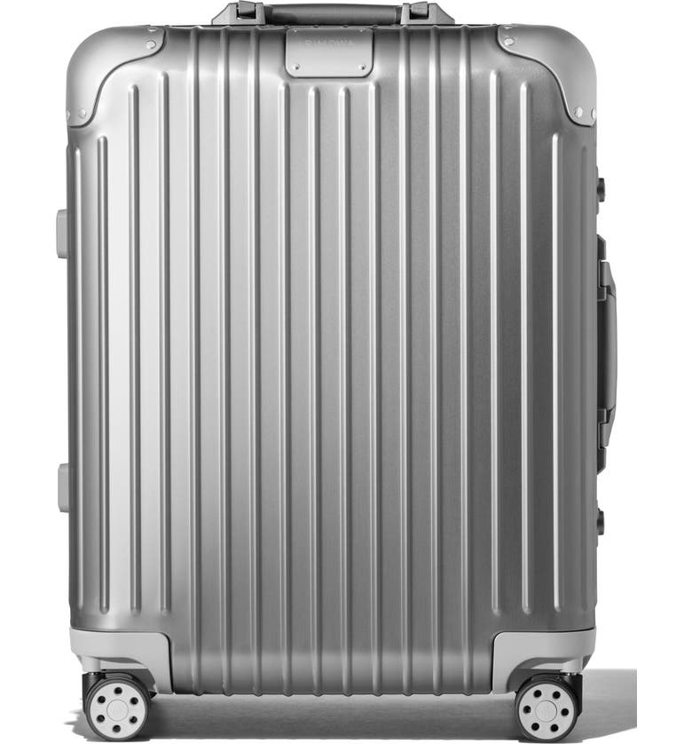 RIMOWA Original Cabin Plus 22-Inch Wheeled Carry-On, Main, color, Silver